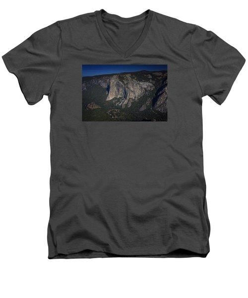 El Capitan  Men's V-Neck T-Shirt by Rick Berk