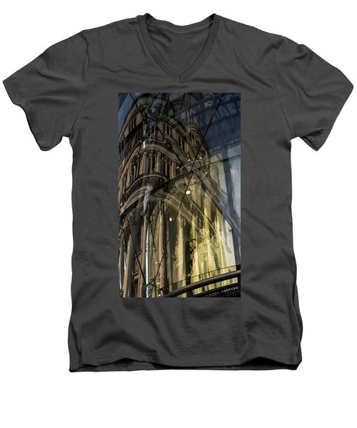 Men's V-Neck T-Shirt featuring the photograph Emergence by Alex Lapidus