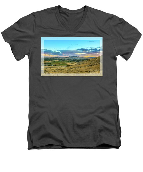 Emmett Valley Men's V-Neck T-Shirt by Robert Bales