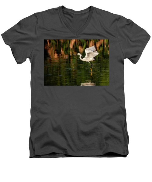 En Pointe Men's V-Neck T-Shirt by Cyndy Doty