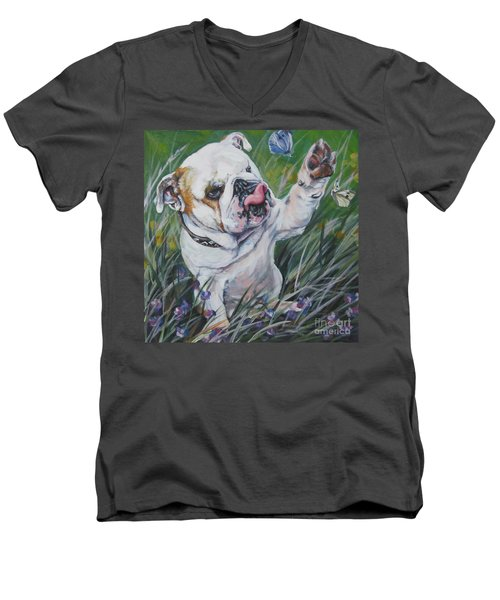 English Bulldog Men's V-Neck T-Shirt