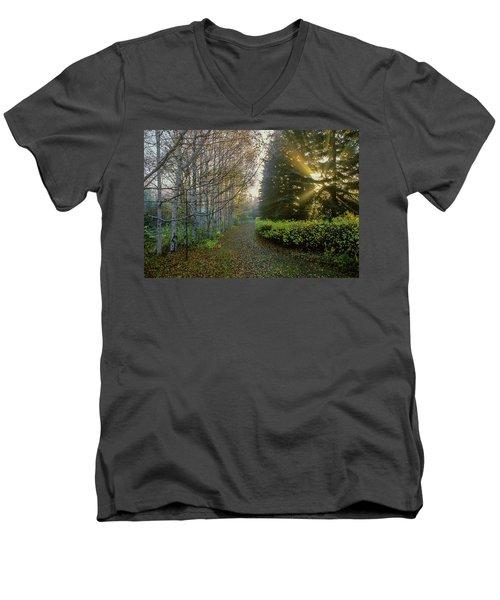 Evening Light Men's V-Neck T-Shirt by Vladimir Kholostykh