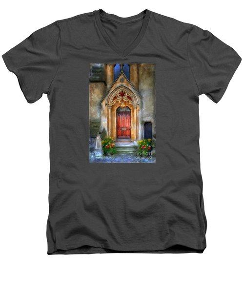 Evensong Men's V-Neck T-Shirt by Lois Bryan