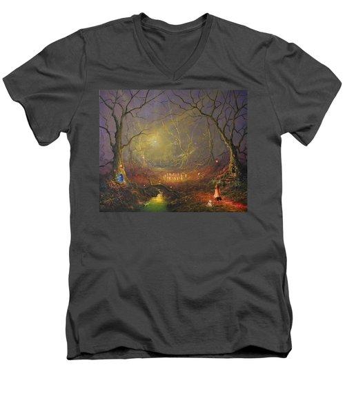 The Enchanted Forest Men's V-Neck T-Shirt