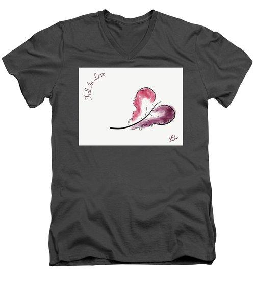 Fall In Love Men's V-Neck T-Shirt