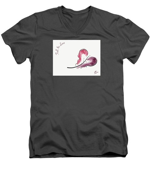 Fall In Love Men's V-Neck T-Shirt