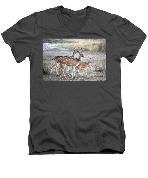 Family Outing Men's V-Neck T-Shirt by Pravine Chester