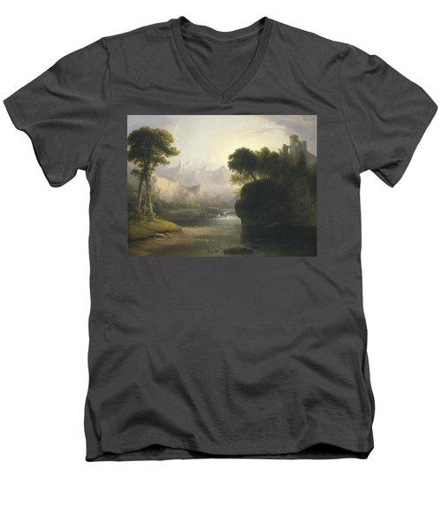 Fanciful Landscape Men's V-Neck T-Shirt