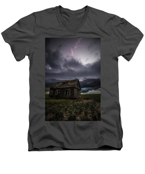Men's V-Neck T-Shirt featuring the photograph Fear by Aaron J Groen