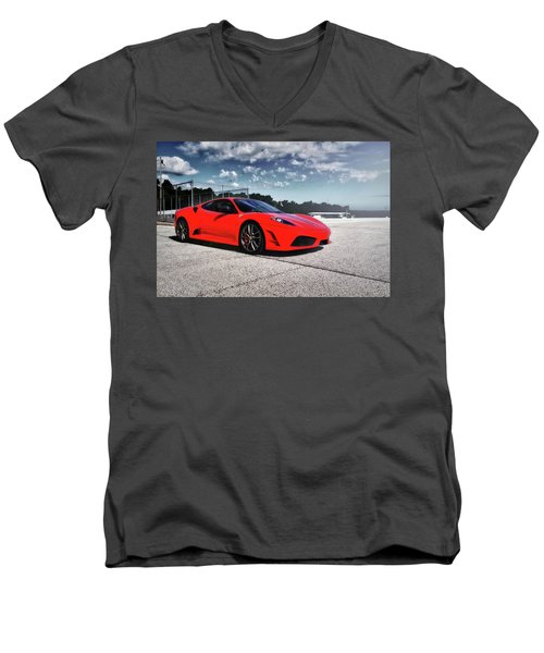 Men's V-Neck T-Shirt featuring the photograph Ferrari F430 by Joel Witmeyer