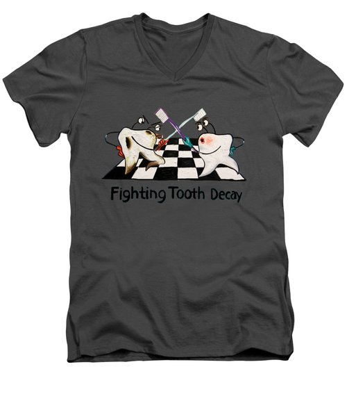 Fighting Tooth Decay Men's V-Neck T-Shirt