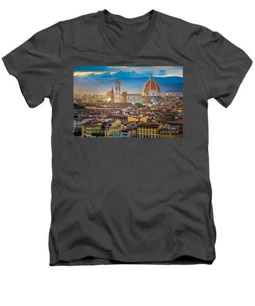 Firenze Duomo Men's V-Neck T-Shirt