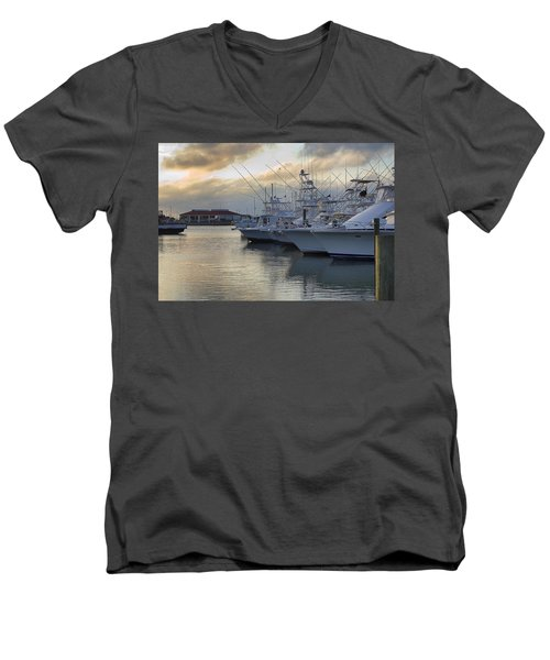 Fishing Yachts Men's V-Neck T-Shirt