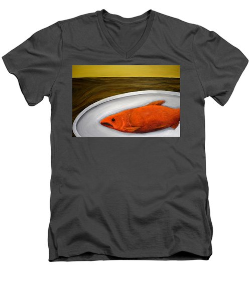 Fishy Fish Ll Men's V-Neck T-Shirt
