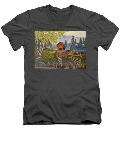 Five Oclock Coffee Men's V-Neck T-Shirt