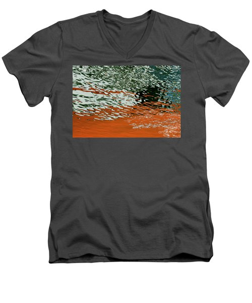 Men's V-Neck T-Shirt featuring the photograph Floating On Blue 43 by Wendy Wilton