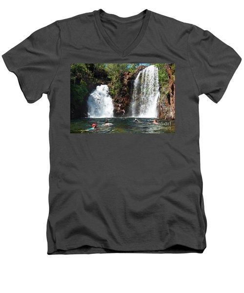 Florence Falls Men's V-Neck T-Shirt
