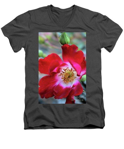 Flower Dance Men's V-Neck T-Shirt by Victor K