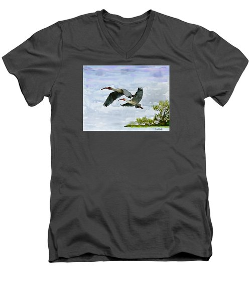 Fly Away Men's V-Neck T-Shirt by Wayne Pascall