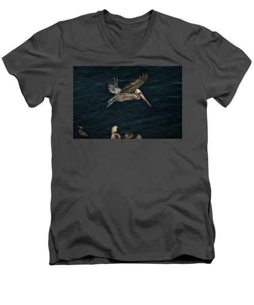 Fly-by Men's V-Neck T-Shirt by James David Phenicie