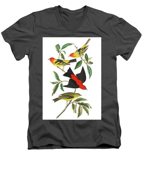 Men's V-Neck T-Shirt featuring the photograph Flying Away by Munir Alawi