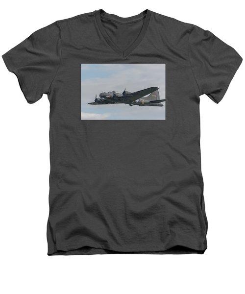 Flying Fortress Sally B Men's V-Neck T-Shirt by Gary Eason