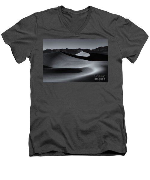 Follow The Curves Men's V-Neck T-Shirt by Mike Dawson