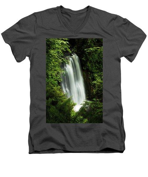 Forest Waterfall Men's V-Neck T-Shirt