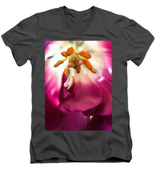 Men's V-Neck T-Shirt featuring the photograph Forever by Bobby Villapando