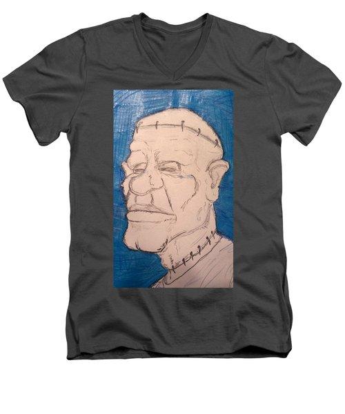 Frankenstein's Nephew's Orthodontist's Cousin Phil. Men's V-Neck T-Shirt