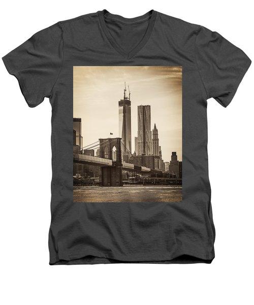 Freedom Tower Rising Men's V-Neck T-Shirt