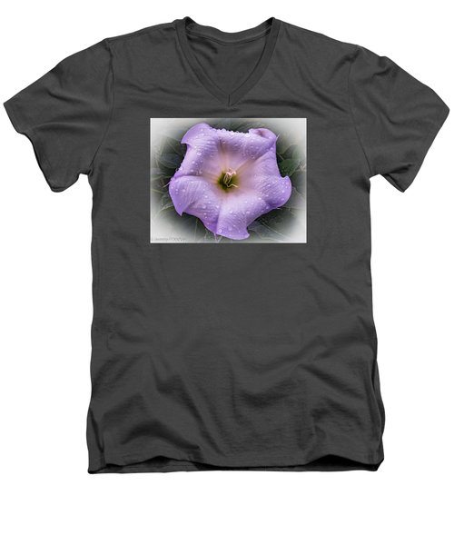 Men's V-Neck T-Shirt featuring the photograph Freshly Showered by Jeremy McKay