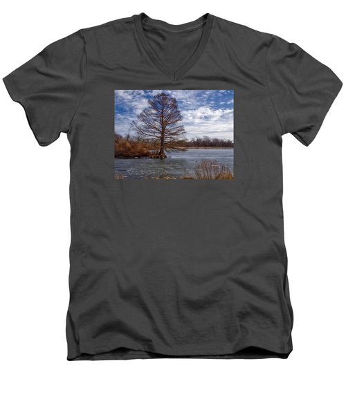 Frozen Lake Men's V-Neck T-Shirt