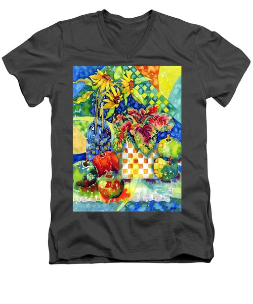 Fruit And Coleus Men's V-Neck T-Shirt