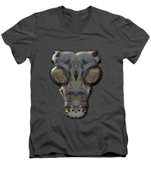 Gas Mask Men's V-Neck T-Shirt by Michal Boubin