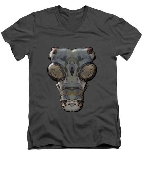 Gas Mask Men's V-Neck T-Shirt