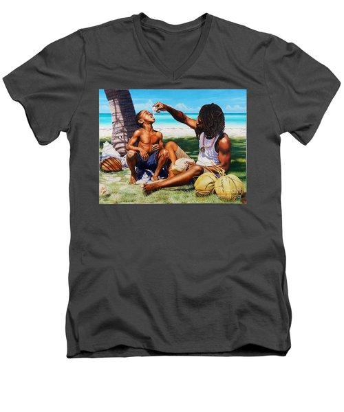 Generations Caring Sharing Men's V-Neck T-Shirt