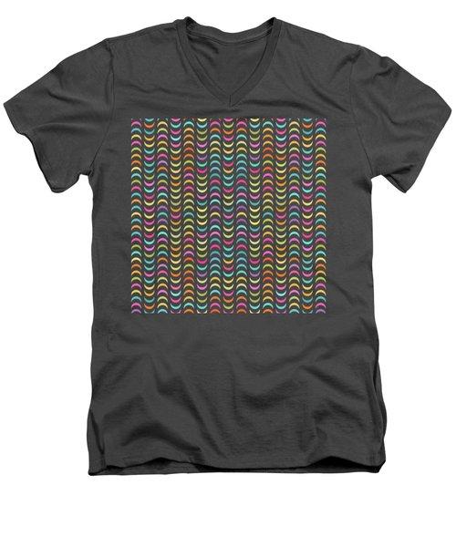 Geometric Pattern Men's V-Neck T-Shirt