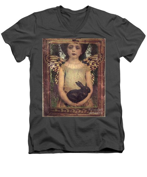 Girl In The Garden Men's V-Neck T-Shirt