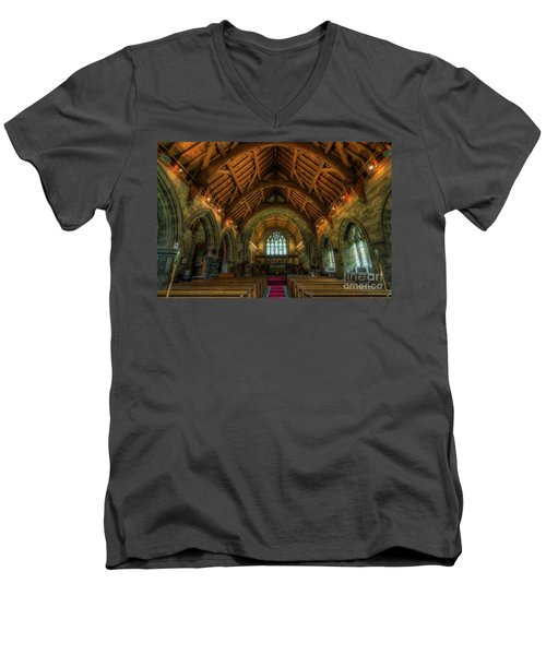 Gods Light Men's V-Neck T-Shirt by Ian Mitchell