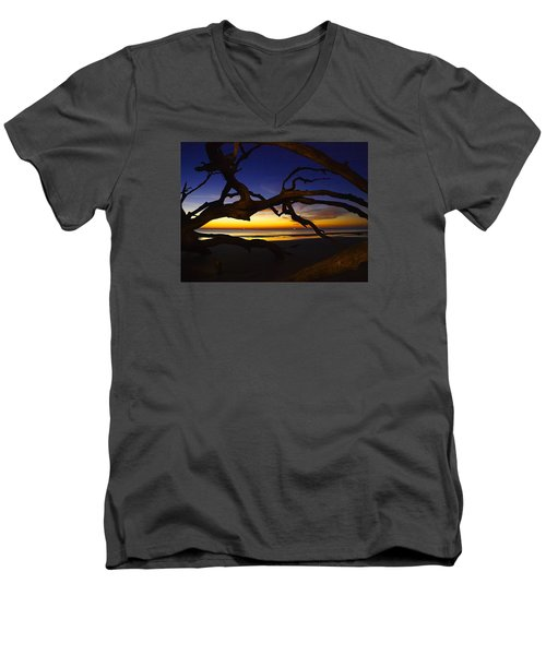 Golden Moments Men's V-Neck T-Shirt by Laura Ragland