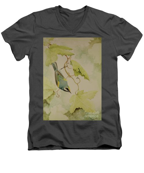 Golden-winged Warbler Men's V-Neck T-Shirt
