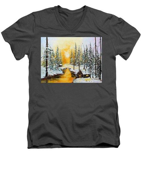 Golden Winter Men's V-Neck T-Shirt