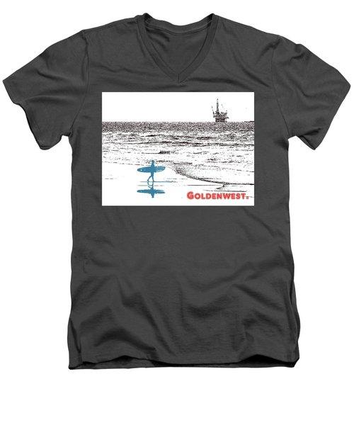 Goldenwest Men's V-Neck T-Shirt by Everette McMahan jr