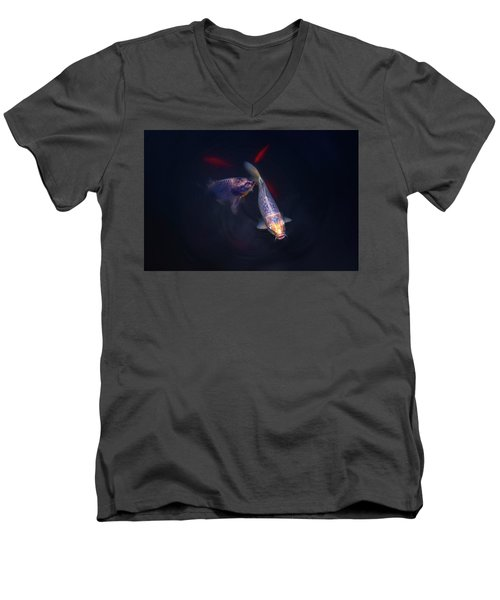 Good Luck Charms Men's V-Neck T-Shirt by John Poon