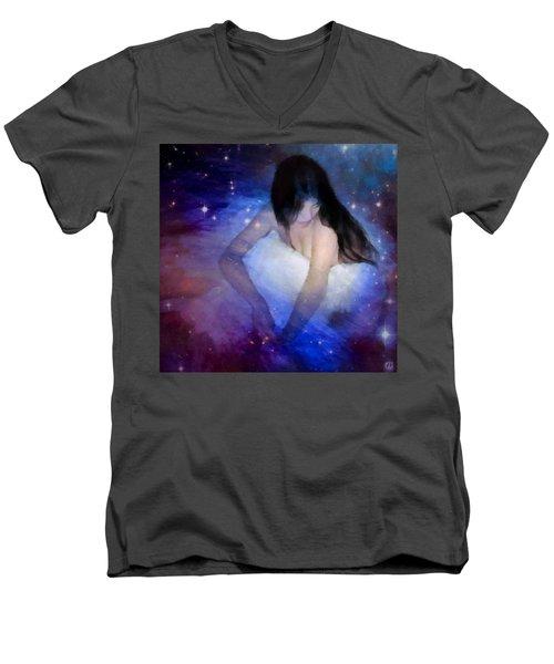 Good Night Men's V-Neck T-Shirt by Gun Legler