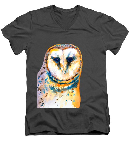 Gorgeous Barn Owl Men's V-Neck T-Shirt