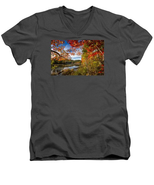 Men's V-Neck T-Shirt featuring the photograph Grafton, New Hampshire by Robert Clifford