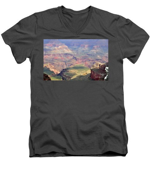 Men's V-Neck T-Shirt featuring the photograph Grand Canyon 2 by Debby Pueschel