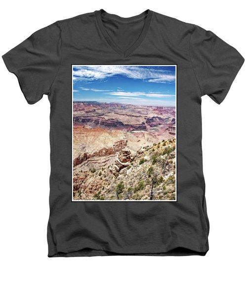 Grand Canyon View From The South Rim, Arizona Men's V-Neck T-Shirt